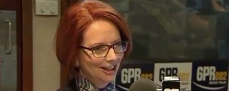 Gillard 6PR radio via Guardian